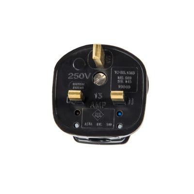 MK Safety Plug Charcoal 646CHA