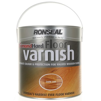 Ronseal Diamond Hard Floor Varnish Satin 2.5L
