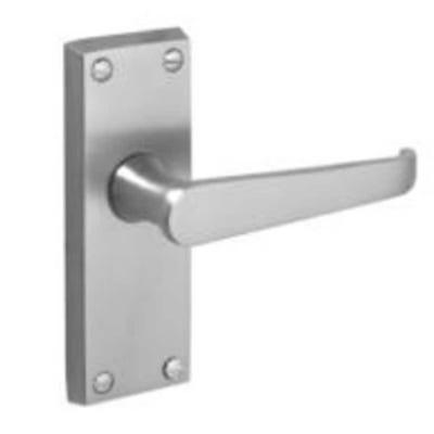 Contract Victorian Straight Door Handle in Satin Chrome