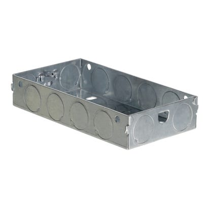 2 Gang 25mm Metal Back Box