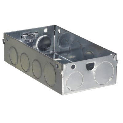 2 Gang 35mm Metal Back Box