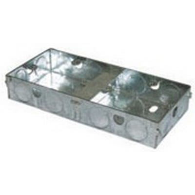 Dual 25mm Metal Back Box