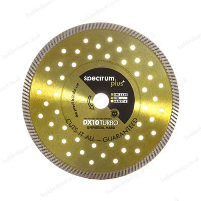 Spectrum 230mm DX10 Turbo Plus Universal/Hard Materials Diamond Blade