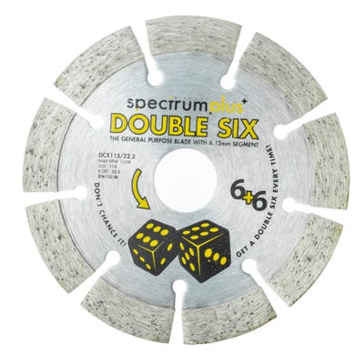 Spectrum 115mm DCX Double Six Plus General Purpose Diamond Blade