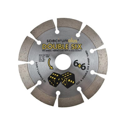 Spectrum 125mm DCX Double Six Plus General Purpose Diamond Blade