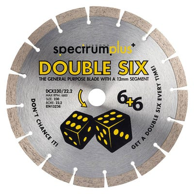 Spectrum 230mm DCX Double Six Plus General Purpose Diamond Blade