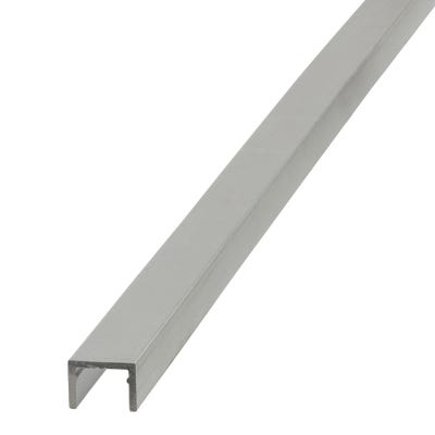 Anodised Aluminium U-Profile 10mm x 13.5mm x 1m