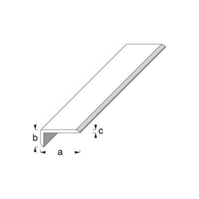 Anodised Aluminium Edge Protecting Profile 8mm x 19mm x 1m