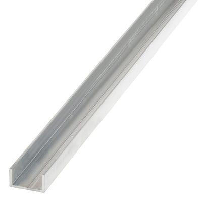 Aluminium Rectangular U 11.5mm x 19.5mm x 1m