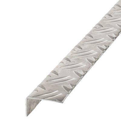 Aluminium Angle Unequal Sides Checker Plate 23.5mm x 43.5mm x 1m