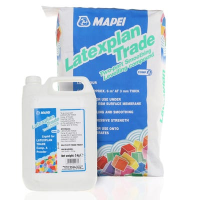 Mapei Latexplan Trade 2 Part Floor Levelling Compound 1mm to 10mm 30kg