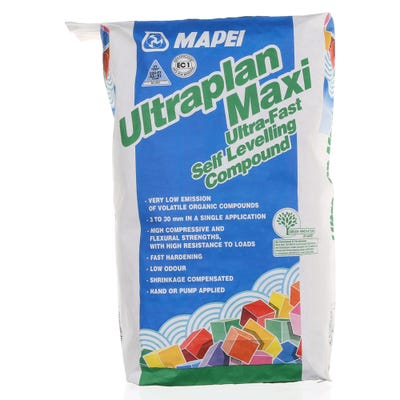 Mapei Ultraplan Maxi Ultra Fast Floor Levelling Compound 3mm to 30mm 25Kg