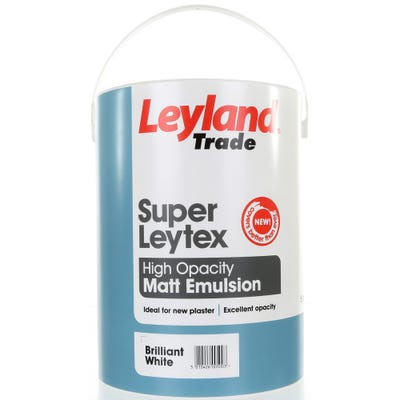 Leyland Trade Super Leytex Matt Brilliant White 5L