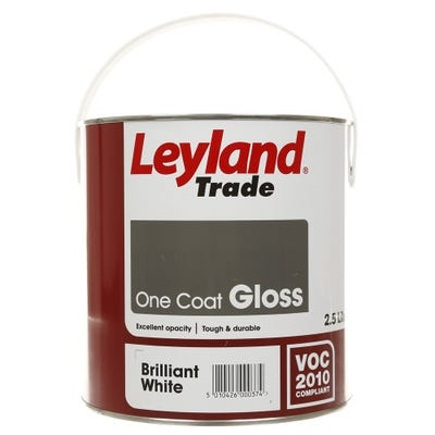 Leyland Trade One Coat Gloss Brilliant White 2.5L