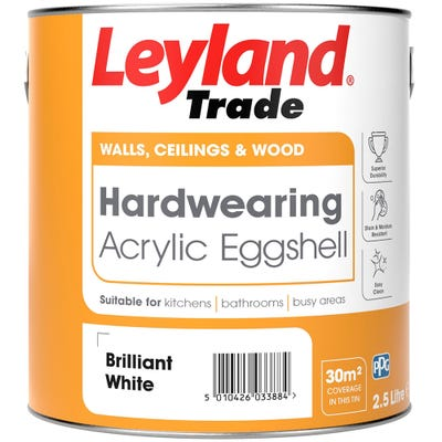 Leyland Trade Acrylic Eggshell Brilliant White