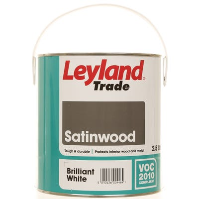 Leyland Trade Satinwood Brilliant White