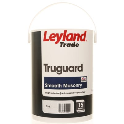 Leyland Trade Truguard Smooth Masonry Black 5L