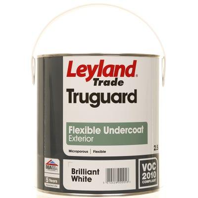 Leyland Trade Truguard Flexible Undercoat Exterior Brilliant White 2.5L