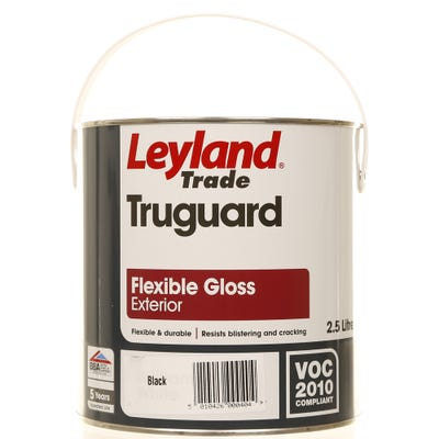 Leyland Trade Truguard Flexible Gloss Exterior Black 2.5L