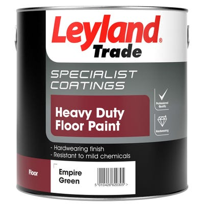 Leyland Trade Heavy Duty Floor Paint Empire Green 2.5L