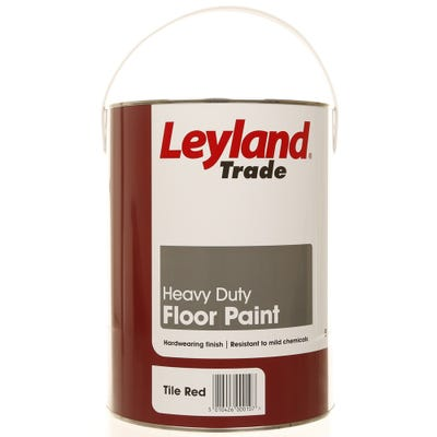 Leyland Trade Heavy Duty Floor Paint Tile Red 5L