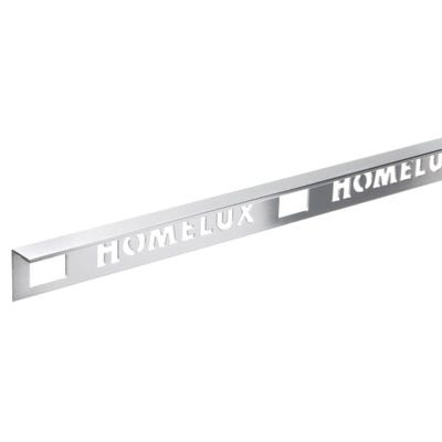 Homelux 10mm Silver Metal Tile trim 2.5m
