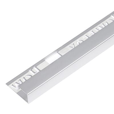 Homelux 12.5mm Silver Square Edge Metal Tile Trim 2.5m