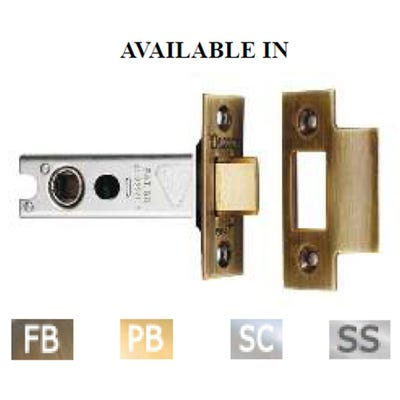 Eurospec 100mm Heavy Duty Tubular Mortice Latch Polished Brass