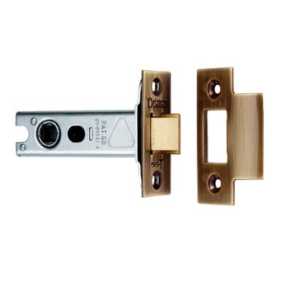 Eurospec 100mm Heavy Duty Tubular Mortice Latch Florentine Bronze