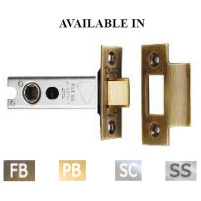 Eurospec 100mm Heavy Duty Tubular Mortice Latch Stainless Steel