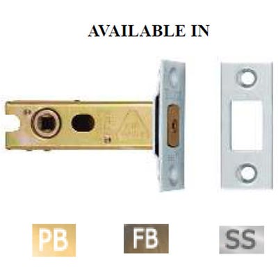 Eurospec 76mm Bathroom Dead Bolt Polished Brass