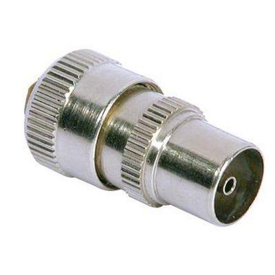 Brass Coax Plug Nickel Plated