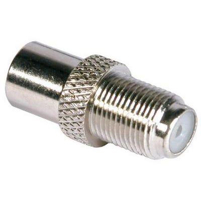 F Socket To Coax Plug All Metal F To Coax