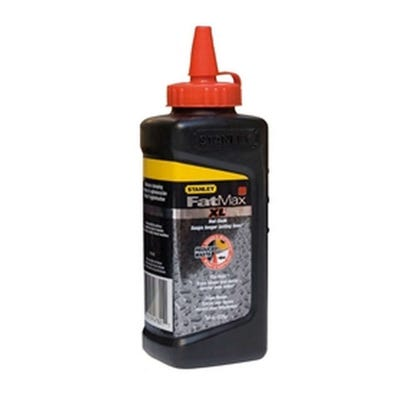 Stanley Fatmax XL Square Bottle Chalk Refill 225g Red