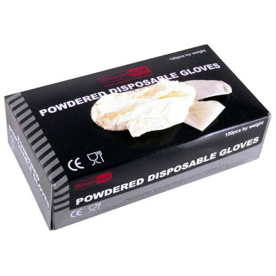 Blackrock Disposable Powdered Gloves Large Box of 100