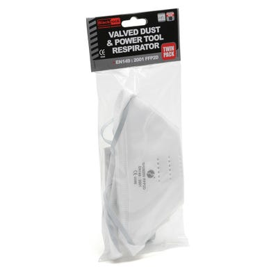 Blackrock Dust Mask Valved FFP2 Pack of 2