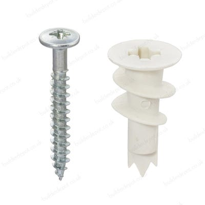 Fischer Self-Drill Nylon Plasterboard Fixings Pack of 25
