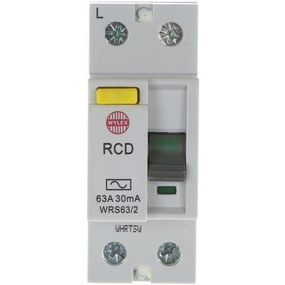 Wylex Double Pole RCD 63A 30mA WRS63/2