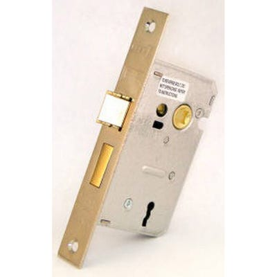 Eurospec Contract Sashlock 3 Lever 63mm Nickel Plate
