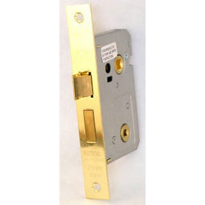 Eurospec Easi-T Bathroom Lock 64mm Electro Brass