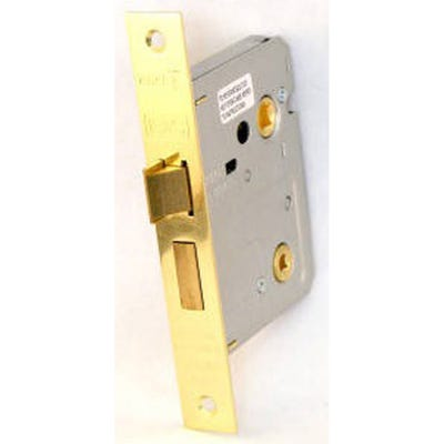 Eurospec Easi-T Bathroom Lock 76mm Electro Brass