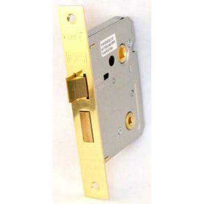 Eurospec Easi-T Bathroom Lock 76mm Electro Brass