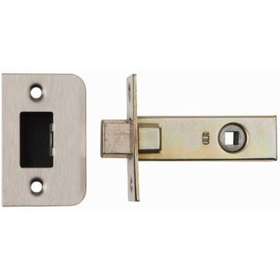 Dale 63mm Tubular Morticed Bathroom Deadbolt Satin Stainless Steel