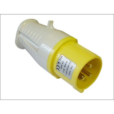 Faithfull 110V 16A Yellow Plug
