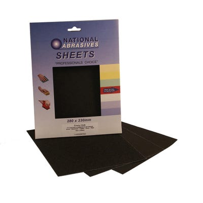 Emery Cloth Sanding Sheets Assorted Pack of 3