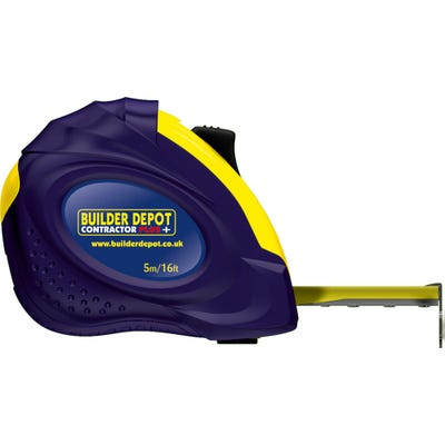 Builder Depot 5m/16ft Contractor Plus Tape Measure