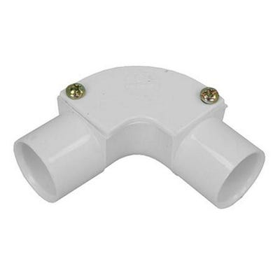 Conduit Inspection Elbow White 25mm