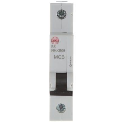 Wylex 6A MCB Single Pole Type B NHXB07