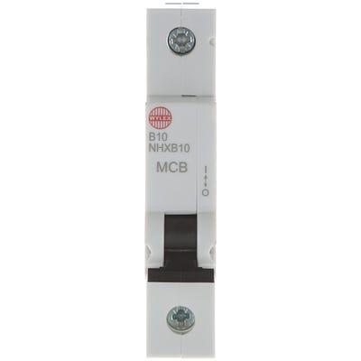 Wylex 10A MCB Single Pole Type B NHXB10