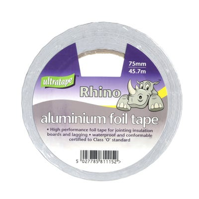 Ultratape Aluminium Foil Tape 75mm x 45.7m